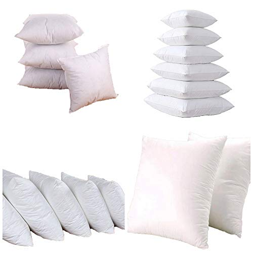 Iyan Linens Ltd Luxury 18' x 18' - 4 Packs - Cushion Pads with Bounce Back Polyester Hollow Fibre