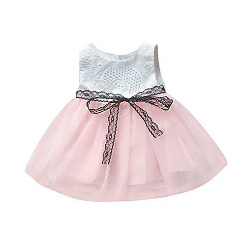 Julhold Pasgeboren Baby Meisjes Mouwloze Knop Bownknot Kant Net Garen Prinses Tutu Jurk Kleding Casual Mode Leuke Zomer