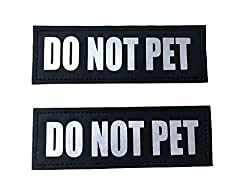Do Not Pet - dog vest velcro badge