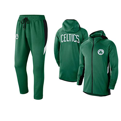 RLYJZ Hoodie-Reißverschluss-Trainingsanzugjacke, Celtics Herren- und Frauenscasual Sportswear-Leistung mit Kapuze Pullover XXXL