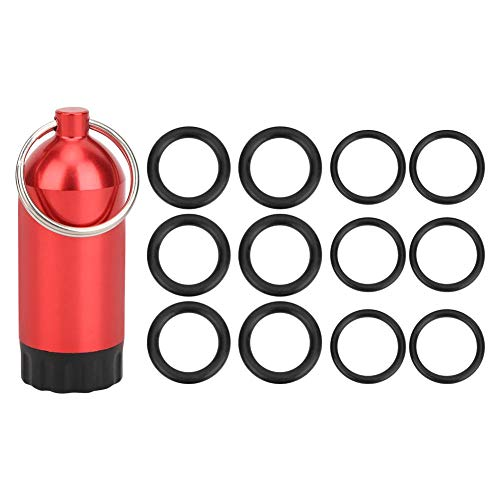 XINMYD Anillos tóricos del Cilindro de Buceo, Anillos tóricos del Anillo de Sellado de la válvula del Cilindro de Buceo Mini Botella de Almacenamiento del Cilindro(Rojo)