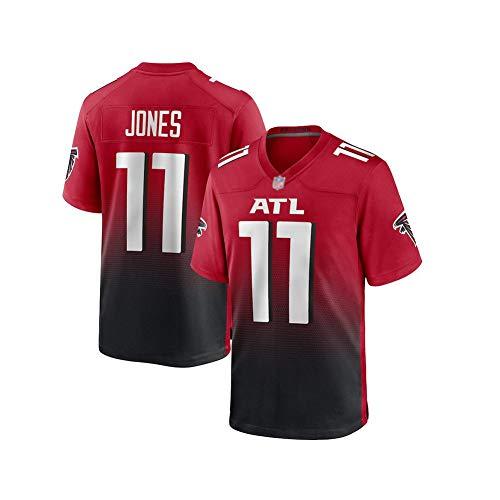 Rugby-Trikot Julio Jones # 11 Todd Gurley # 21 Atlanta Falcons American-Football-Trikot, hautfreundliches und baumwollweiches Material bietet reibungslose reibungsarme Leistung Wiederholbare Reinigung