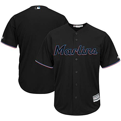 Fanatics MLB Cool Base - Camiseta de béisbol Miami Marlins, color negro, talla XL