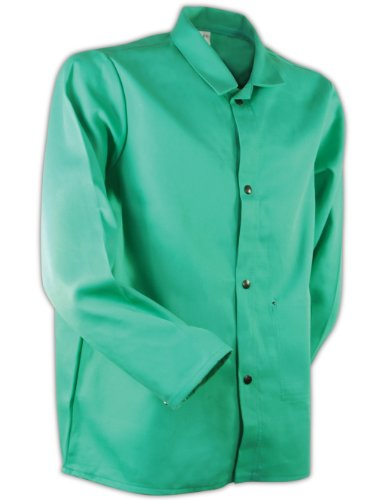 "Magid 1830XXXL SparkGuard Flame Resistant Cotton Standard Weight Jacket, 30"" Length, 3XL, Green"