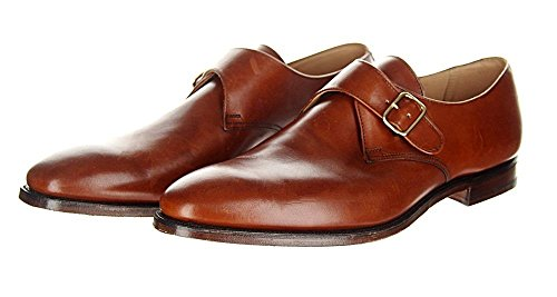 Crockett & Jones for J Crew Malvern Brown Monk Strap Shoes Size 10.5 E