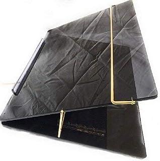 LUVYANSH Writing Table TOP Elevator Writing Desk Small Size (12 * 16) INCH small size 7 MM P.S Sheet Black Smoke Colour (M...