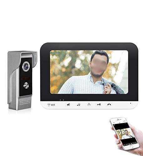 XXHDEE Video Doorbell Cámara, HD Intercom Wi-Fi en Tiempo Real Wi-Fi Campana Visión Nocturna Cámara de Seguridad de 2 vías Compatible con iOS & Android