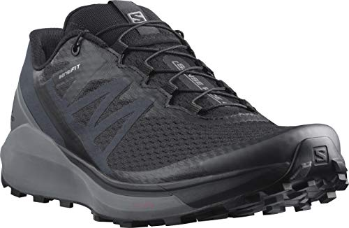 Salomon Men's Sense Ride 4 Trail Running Shoe, Black/Quiet Shade/Ebony, 14