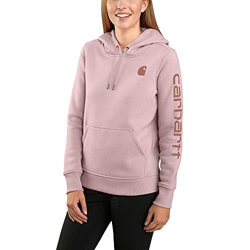 Carhartt Women's Clarksburg Graphic Sleeve Pullover Sweatshirt (Regular and Plus Sizes), V15-Crepe, Extra Small