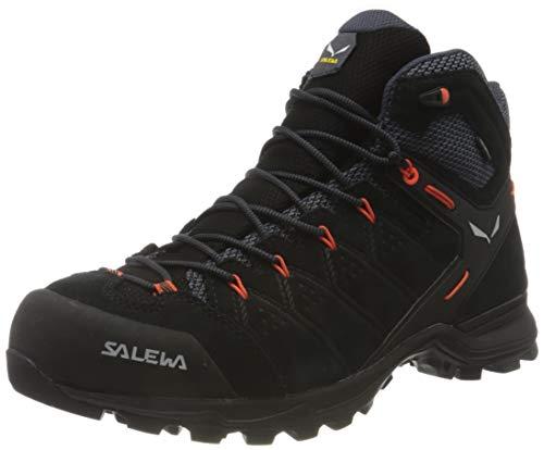 Salewa Herren MS Alp Mate Mid WP Trekking- & Wanderstiefel, Black Out/Fluo Orange, 42.5 EU