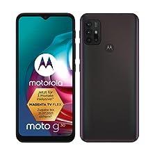Motorola moto g30 (6,5?-Display, 64-MP-Kamera, 4/128 GB, 5000 mAh, Dual-SIM, Android 11) Dark Pearl, inkl. Schutzcover [Exklusiv bei Amazon]©Amazon