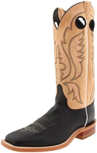 """Justin Boots Men's U.S.A. Bent Rail Collection 13"""" Boot Wide Square Double Stitch Toe Leather Outsole,Black Burnished Calf/Toast Tumbleweed,8.5 D US"""