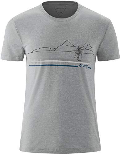 Maier Sports Myrdal Print Chemise Manches Courtes Homme, Sleet Melange Modèle DE 48 2020 T-Shirt Manches Courtes