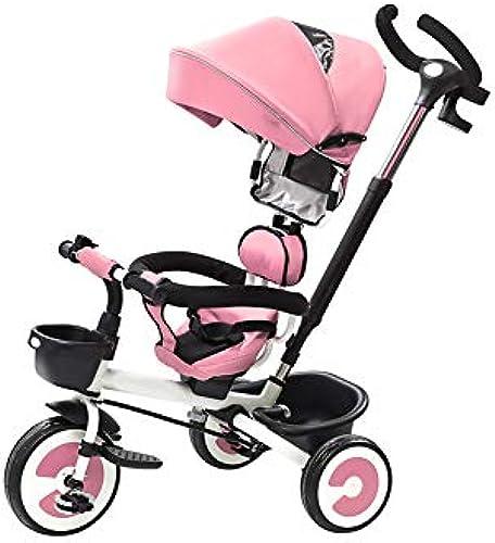 Faltendes Dreirad der Kinder 1-3-6 Jahre alte Fahrradkinderwagen-Kinderwagen-Rosa