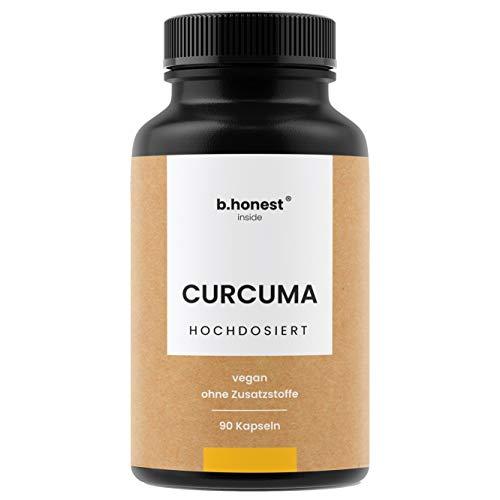Natürliche Curcuma Extrakt Kapseln - EINFÜHRUNGSPREIS - 6-Monats-Vorrat, hochdosiert mit 95% Extrakt - Curcumin Gehalt EINER Kapsel entspricht dem von ca. 15.000mg Kurkuma - Laborgeprüft, vegan