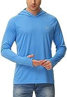 isnowood Sun Shirt UPF 50+ Men's Fishing Long Sleeve UV Protection Hoodie Hiking Rash Guard Swimming Running