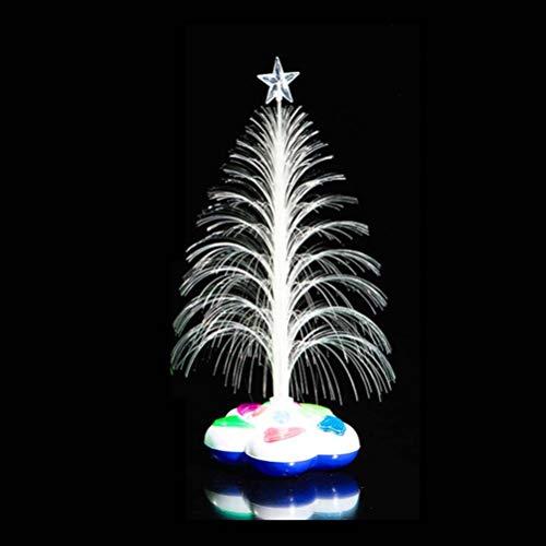 LEDMOMO Weihnachtsbaum, Glasfaser, Licht, Licht, Weihnachtsbaum, Dekoration, Licht, keine Batterie (zufällige Farbe)