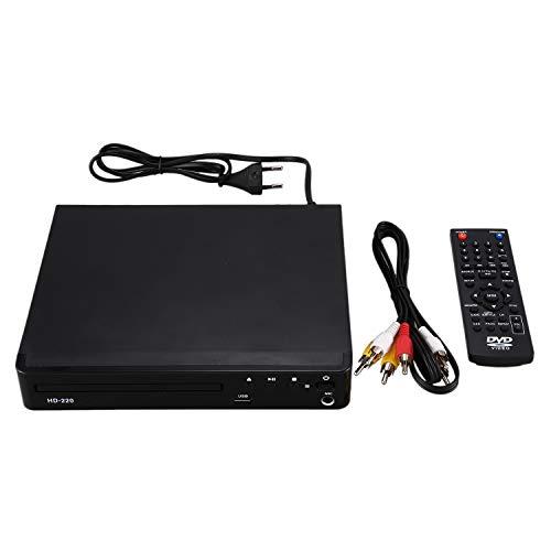 JISKGH USB RCA Reproductor de DVD MúLtiples Idiomas OSD para DVD CD RW Reproductor Pantalla LED con Control Romote Enchufe de la UE