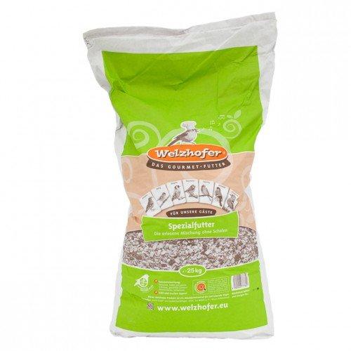 Welzhofer Aliment spécial pour Oiseaux - sans Peau - Sac de 25 kg en Papier et en polyéthylène