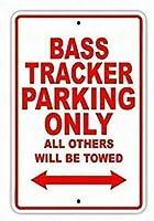 ティンサインバストラッカー駐車場のみ他のすべてが牽引されますボート船ヨットマリーナ湖ドックヤウルクラフトマンシップ壁の装飾のためのアルミニウム金属看板