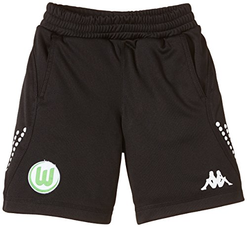 Kappa Shorts VFL Training Bermuda Kids - Pantalones Cortos de fútbol para niño, Color Negro, Talla DE: 116