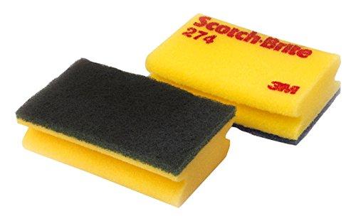 3M Scotch-Brite SCH274 Scotch-Brite Reinigungsschwamm, 274, 95 mm x 150 mm, Gelb/Grün (10 er-Pack)