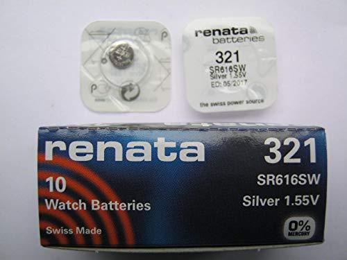 2 X RENATA 321 Pilas Para Reloj - SR616SW - Plata 1.55v