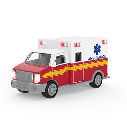 Driven by Battat – Ambulance – Toy Truck with Lights and Sound – Rescue Trucks and Toys for Kids Aged 3 and Up