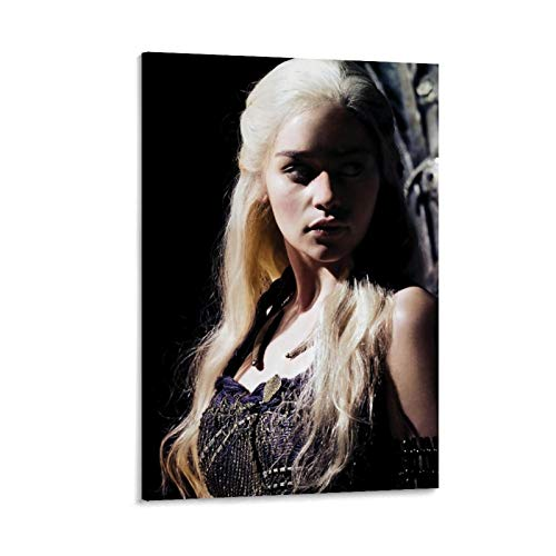 DRAGON VINES Poster sur toile Game of Thrones Saison 1 Le royaume de neige de nuit Décoration murale Impression HD Décoration murale 60 x 90 cm