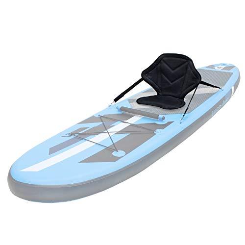 ECD Germany Sedile Seggiolino Schienale Imbottito 62 x 43 cm Supporto Kayak Base Antiscivolo Imbarcazione Barca Canoa Tavola da Surf SUP Canottaggio Pesca Rafting Paddle Board Regolabile Universale