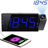 """Best Projection Clocks - Projection Alarm Clock for Bedrooms, 180° Projector, 7"""" Review"""