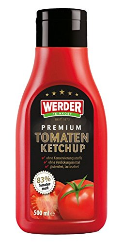 Werder Premium Tomaten Ketchup Squeeze, 1er Pack (1 x 500 ml)