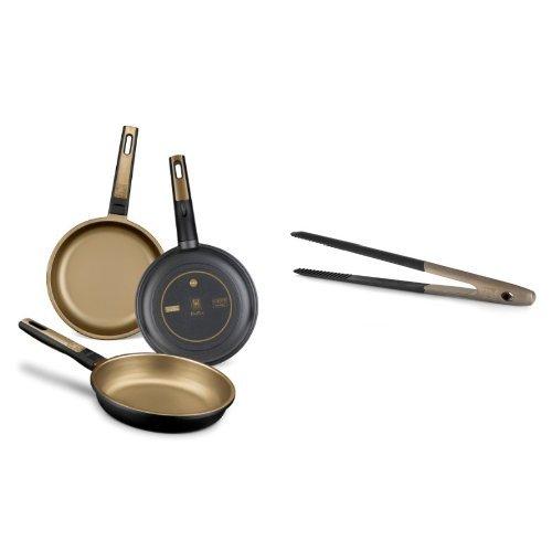BRA Terra - Set de 3 sartenes, 18 cm, 22 cm y 26 cm + pinzas Bra Air