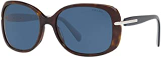 PR08OS 2AU1V1 Havana PR08OS Square Sunglasses Lens Category 3 Size 57mm