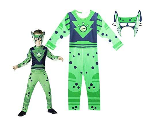 CVDEKH Halloween Disfraz Hermanos Animales Siameses juegan Kratts Salvajes Disfraz de Cosplay para niños