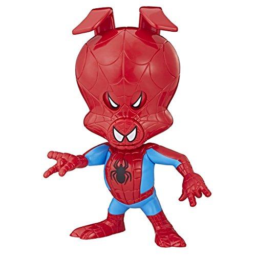 Spider-Man Spider-Schwein, lustige Actionfigur mit drei verschiedenen Augen-Ausdrücken
