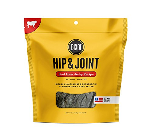 Bixbi Dog Jerky Treat, Hip & Joint, Beef Liver, 12 Ounce
