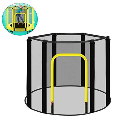 Red de Seguridad de trampolín, Red de cerramiento de Seguridad de reemplazo Red de reemplazo de trampolín de jardín Resistente a los Rayos UV para Trampolines de 6 Postes de
