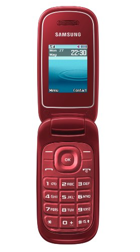 Samsung E1270 Klapphandy (4,5 cm (1,8 Zoll) TFT Farbdisplay) rot