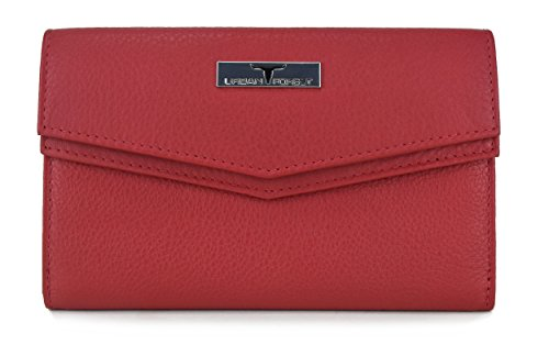 Urban Forest Red Womens Leather Wallet TESS