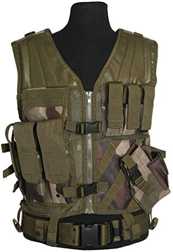 MIL-TEC USMC Quick Draw Tactical Vest - French CCE Camo