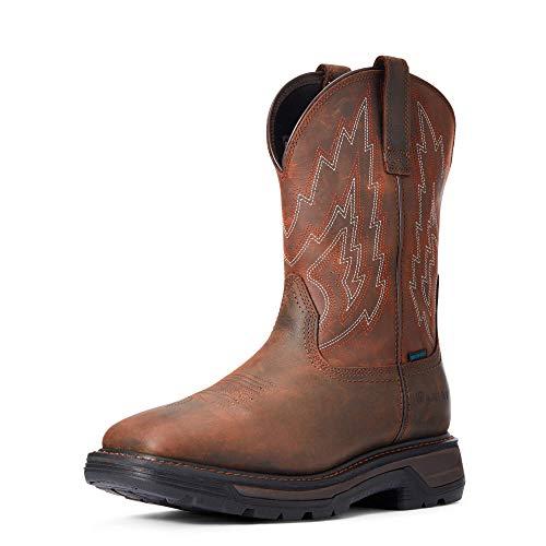 ARIAT Men's Big Rig Waterproof Work Boot, Dark Brown (Numeric_10_Point_5)