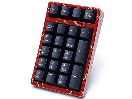 FILCO Majestouch TenKeyPad 2 Professional使用 テンキー工房 越前漆塗りモデル 漆・しぶき塗り(赤) Cherry MX SILENTスイッチ USBポータブルメカニカルテンキーパッド ブラック FTKP22MPS/B2-SR