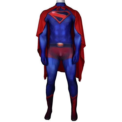 Superman Cosplay Ropa, Vestuario Batalla Superhero, Adulto NiñOs De Halloween FantasíA De Navidad Ropa del Vestido Mono del Funcionamiento Etapa