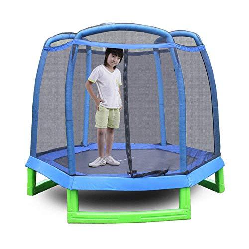 TBTBGXQ Garden Trampoline Kids Trampoline with Safety Enclosure Net Great Outdoor Backyard Trampoline 214X214x180cm