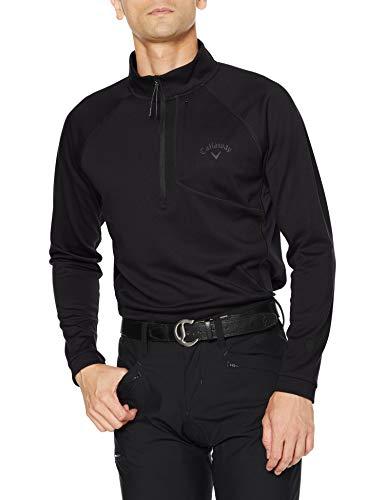 [キャロウェイ] [メンズ] 長袖 ハーフジップ ハイネックシャツ (ウエストボックス型) / 241-0233503 / ゴルフ ウェア 010_ブラック 日本 M (日本サイズM相当)