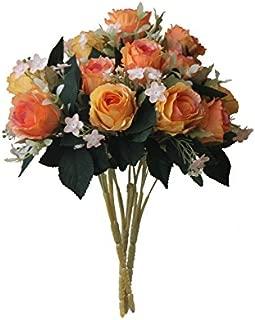 multi coloured rose bouquet