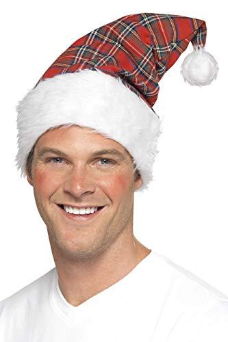 Kerstmuts met Schotse ruit