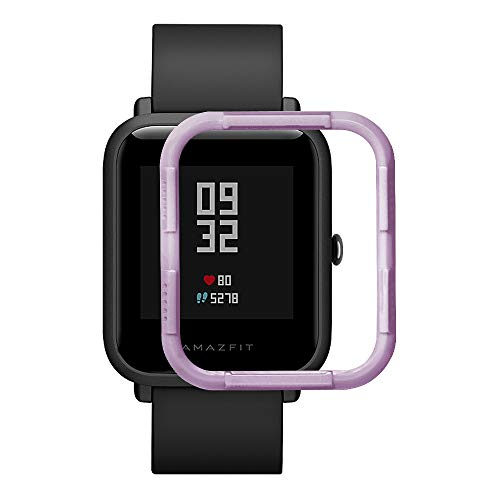 Conver Compatible with Amazfit Bip Watch Case,Protective Frame Half-Edging Ultra Thin PC Smart Watch Accessories & Smartwatch Cases for Amazfit Bip - Lavender