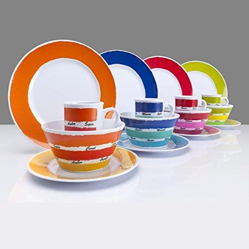 Flamefield 16-teilig Colour Works-Set aus Melamin, Mehrfarbig - 3